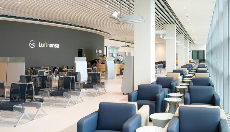 Lufthansa business lounge design hollin radoske architekten